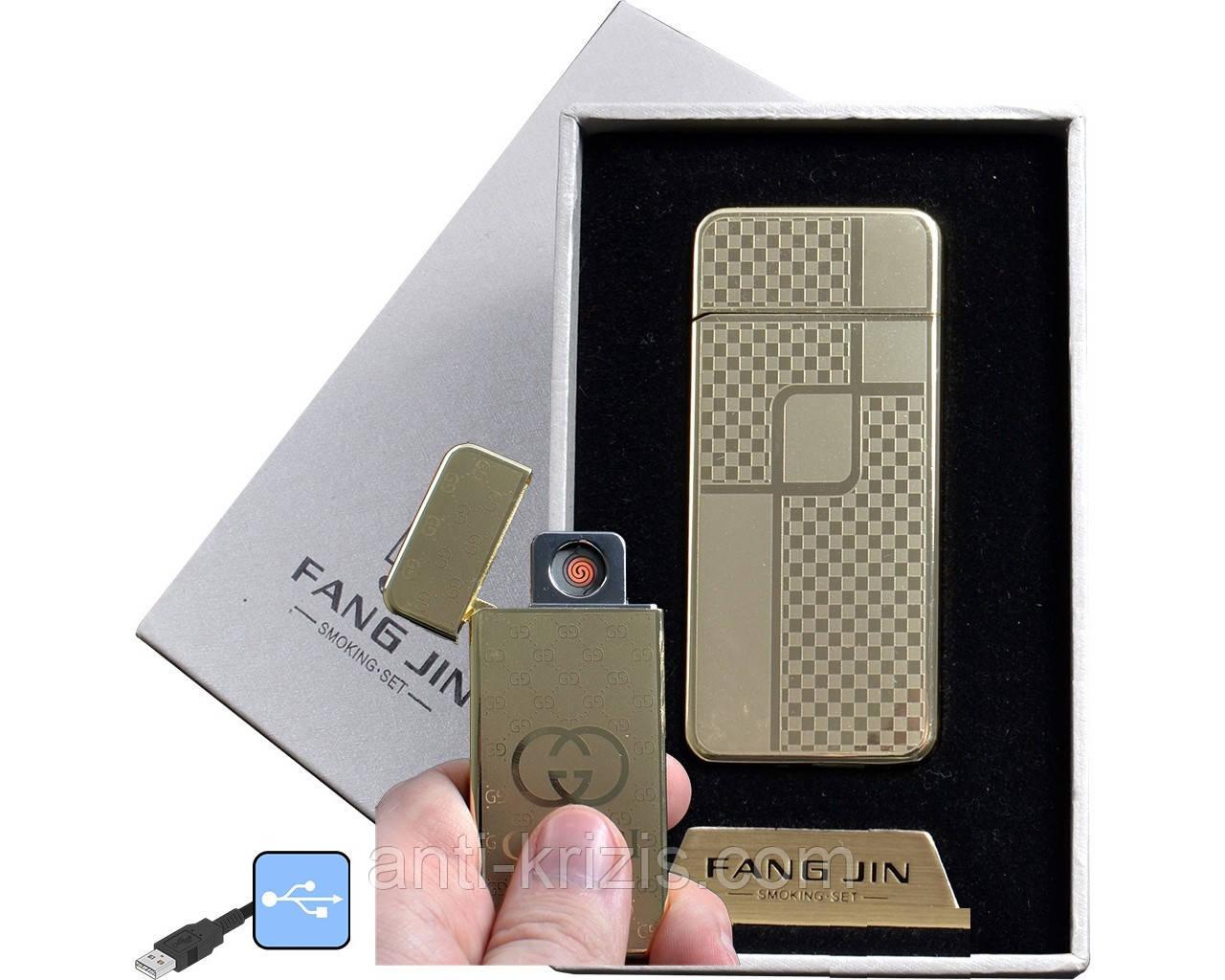 USB зажигалка в подарочной упаковке FANG JIN (спираль накаливания) №4796С-5