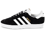Кроссовки Adidas Gazelle Black Suede (Люкс реплика ААА+), фото 10