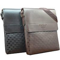 Качественная кожаная сумка Polo Videng New / Мужская сумка