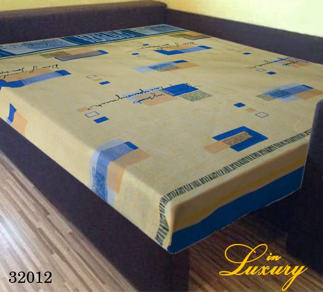 Простынь на резинке 180х200 см «Желто-синяя абстракция» in Luxury™ арт.32012