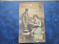 Открытка прошедшая почту Россия 1913 Пасха Тифлис Гадяч