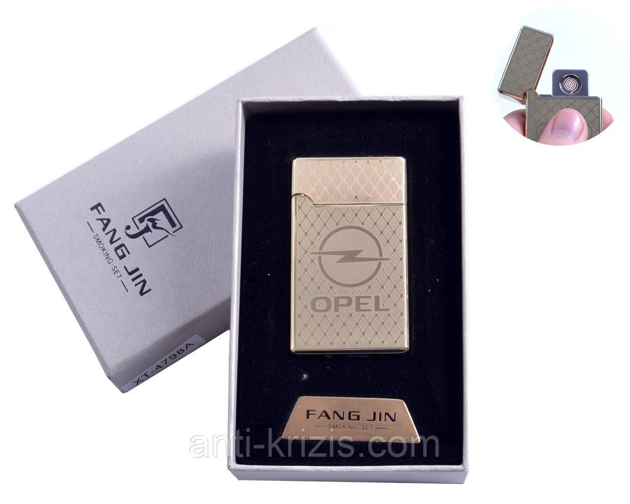 USB зажигалка в подарочной упаковке OPEL (Двухсторонняя спираль накаливания) №4798A-4