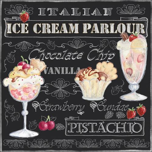"""Салфетки бумажные декоративные """"  Ice Cream Black  """" - интернет магазин * Nordic Home* в Львове"""