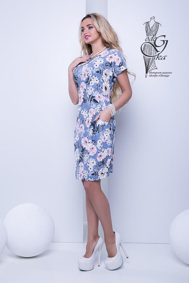 Фото-1 Женских летних платьев большого размера Лонда-5