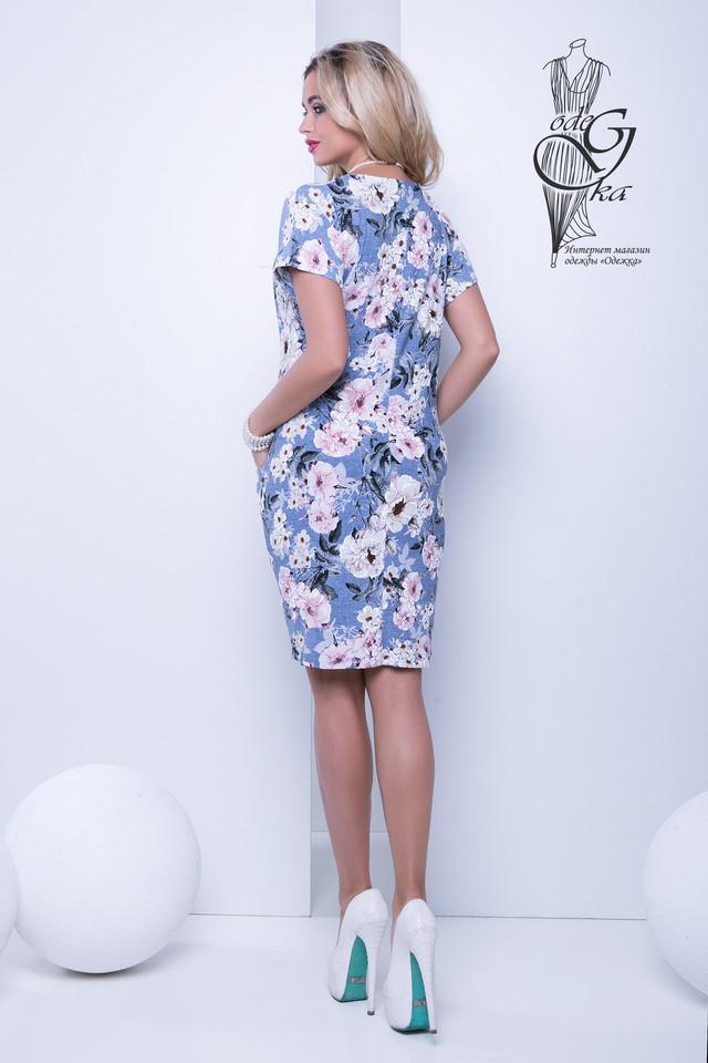 Фото-2 Женских летних платьев большого размера Лонда-5