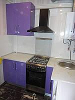 Угловая кухня крашенный фасад
