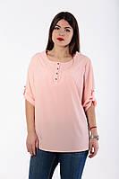 Блузка рубашка женская батал  Софт котон  646.1