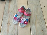 Босоножки с цветочками розовые на девочку 26, 27, 29, 30, 31 размер
