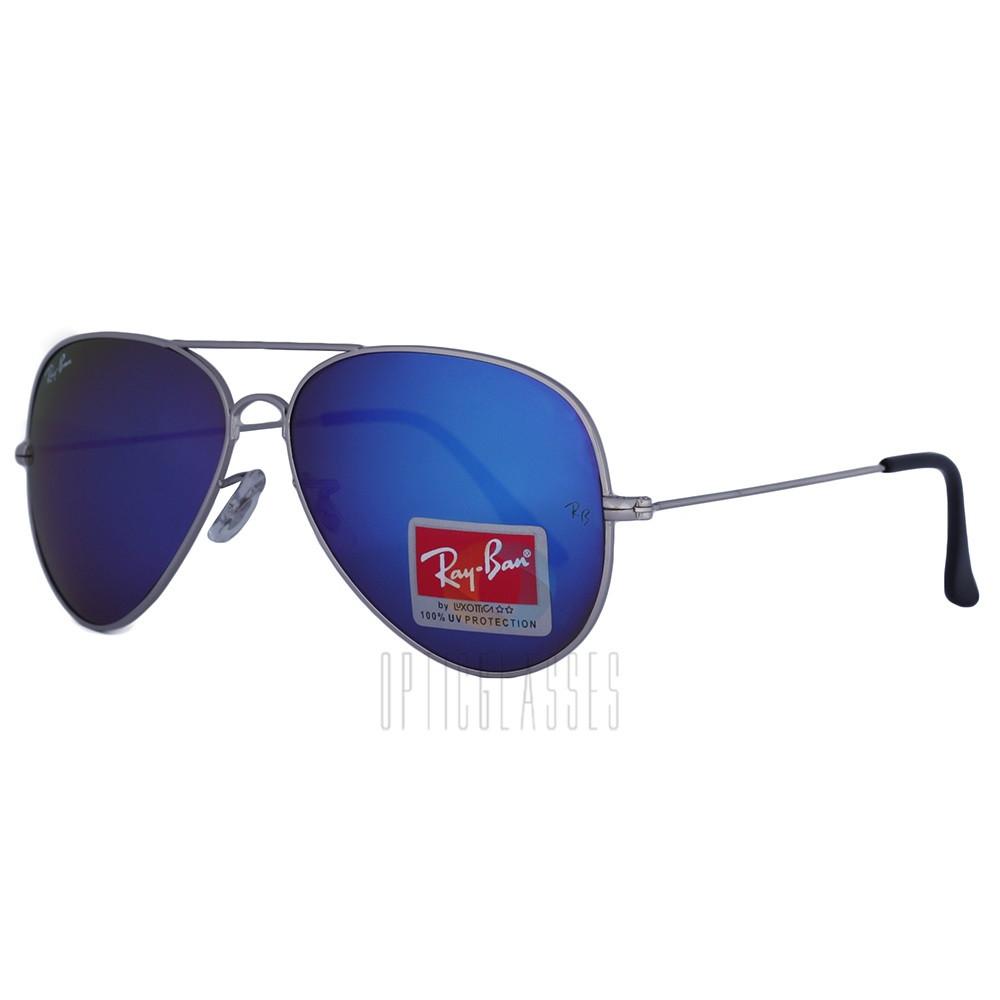Солнцезащитные очки Ray Ban Aviator 3026 silver