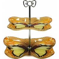 Фруктовница 2-х ярусная Бабочка