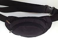 Сумка на пояс (поясная сумка, Бананка) три кармана черного цвета
