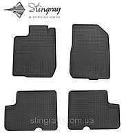 Комплект резиновых ковриков Stingray для автомобиля  Dacia Logan 2004-    4шт.