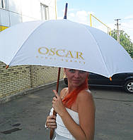 Нанесение логотипа на зонты трости