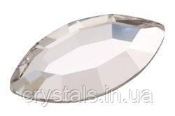 Стразы-лодочки горячей фиксации Hot Fix Preciosa (Чехия) Сrystal 8х4 мм