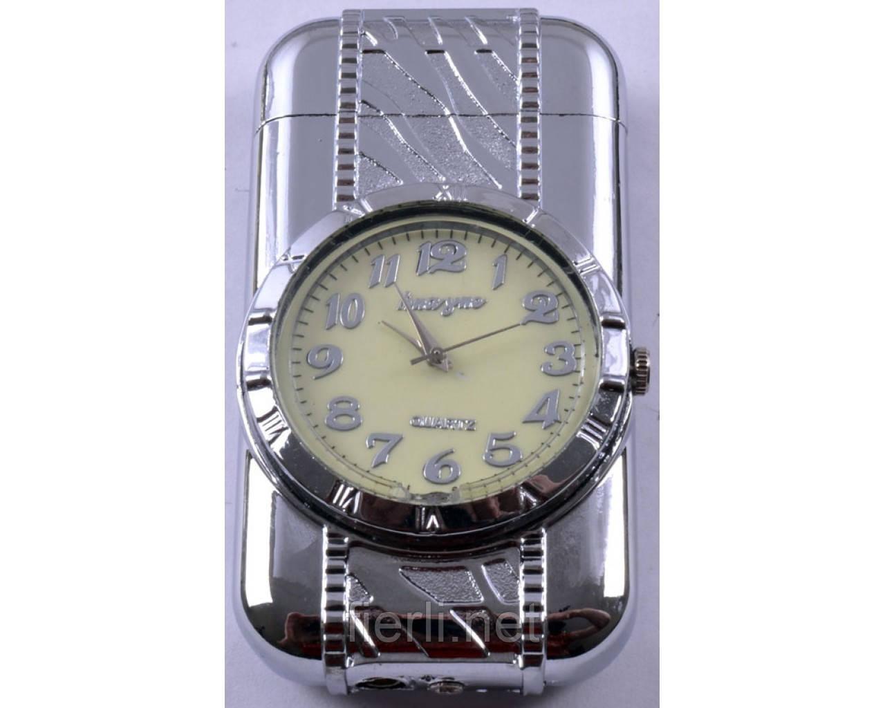 Зажигалка карманная с часами (Турбо пламя) №XT-3921