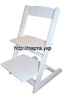 Детский стульчик растущий из бука Белый