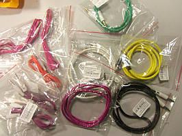 Аудіо-кабель AUX jack 3.5 M/M (тканина) 1м *1080, (кольоровий)