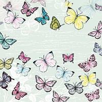 "Салфетки бумажные декоративные ""Butterfly Green """