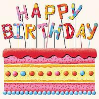 "Салфетки бумажные декоративные ""Birthday Cake   """