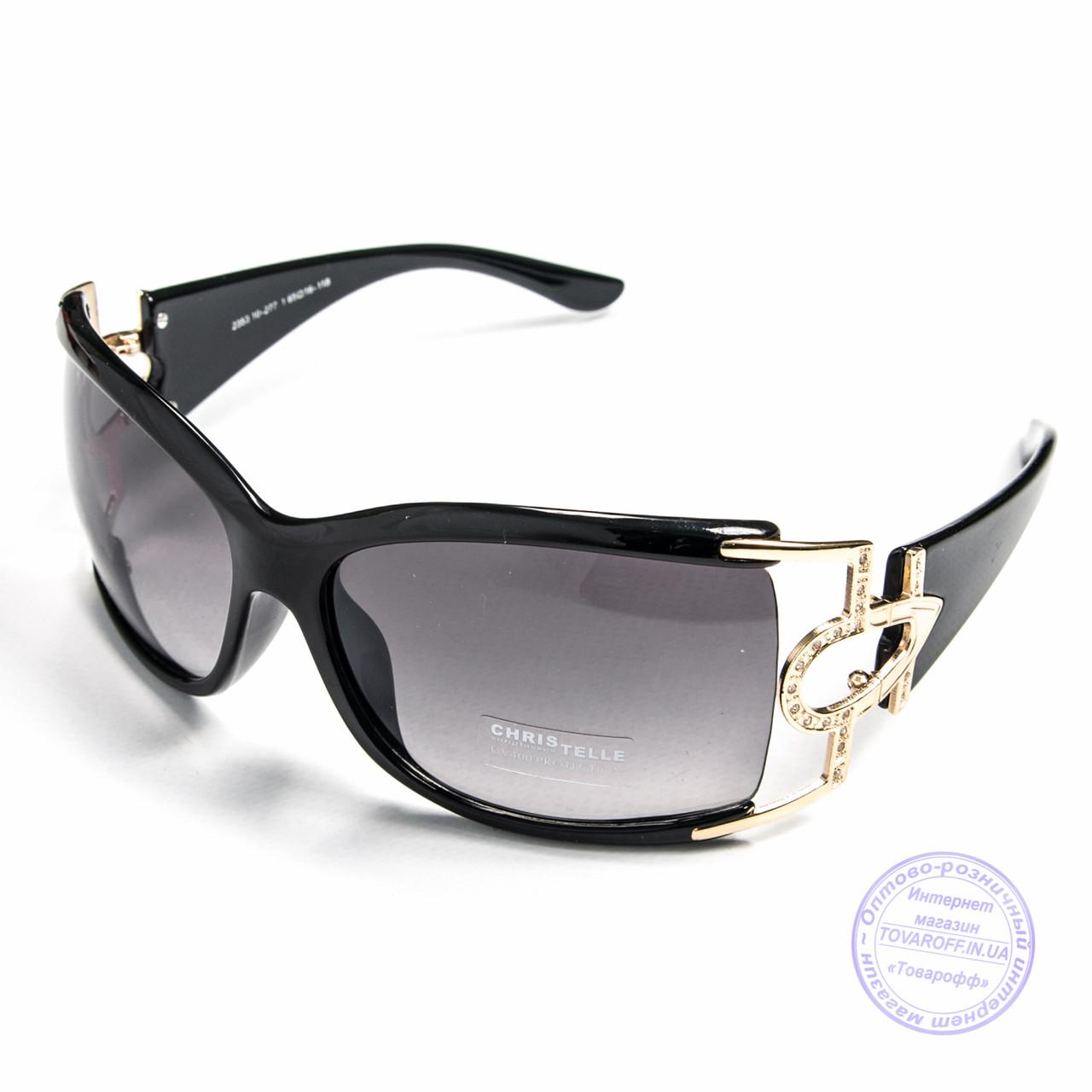 Оптом женские солнцезащитные очки - Коричневые и черные - 2353