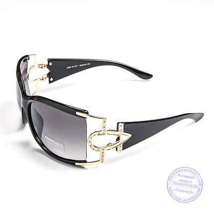 Оптом женские солнцезащитные очки - Коричневые и черные - 2353, фото 3