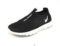 Кроссовки  Nike Free Run сетка черно-белые унисекс (найк фри ран) (р.36,37,38,39)