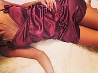 Женский стильный спальный костюмчик шорты+майка. Ткань: атлас. Размер: с,м.