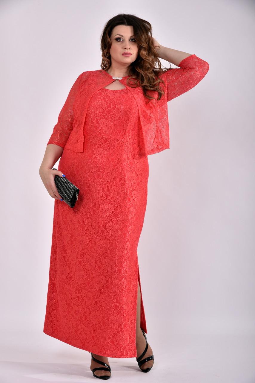 2fdb2031dc6 Женский Коралловый костюм 0487-1 (42-74) - Интернет-магазин МОДАСC