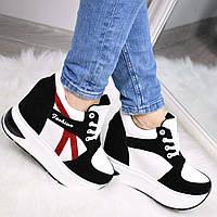 Кроссовки женские Sporty черные с красным, белые кроссовки