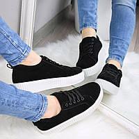 Кроссовки криперы женские Rihana черные с белым 41 размер , белые кроссовки