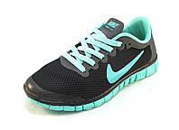 Кроссовки  Nike Free Run сетка черные унисекс (найк фри ран) (р.36,37,40)