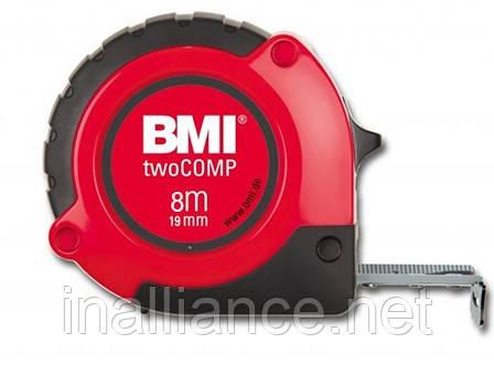 Рулетка измерительная 8 метров twoCOMP BMI 472841021