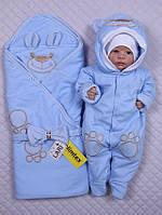 """Конверт и человечек для новорожденного """" Маленький мишутка"""""""