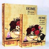 """Книга-шкатулка """"Home"""" на магните набор 2в1 327-1N"""