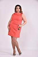 Женское Бежевое платье 0486 (3 цвета) (42-74)
