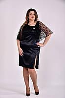 Женское Черное платье 0485 (3 цвета) (42-74)