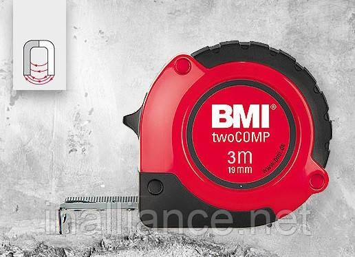 Рулетка измерительная 3 метра магнитная twoCOMP BMI 472341021M