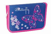 Пенал Smart твердый одинарный с клапанами Flower butterfly 531348