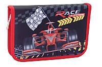 Пенал Smart твердый одинарный с клапанами Red race 531336