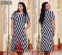 Платье женское длинное в полоску размеры 50-52, 54-56 (К15987)