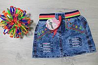 Джинсовая юбка для девочки на резинке Турция размер 1-3 года