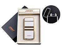 USB зажигалка с двумя перекрестными молниями и счетчиком использования Jobon (Электроимпульсная) №4780-3