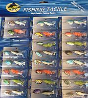 Набор блесен Fishing tackle (силикон) 24 шт