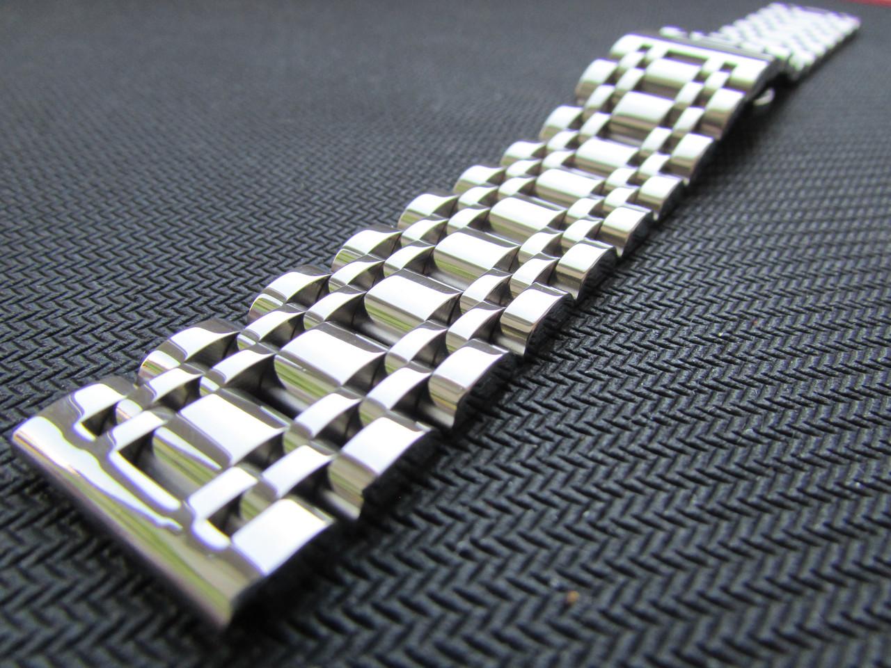 Браслет для часов из нержавеющей стали, литой, полированный. 20-й размер.