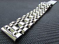 Браслет для часов из нержавеющей стали, литой, полированный. 20-й размер., фото 1