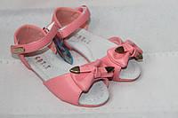 Детские босоножки на девочку с бантиком, розовые р 26,28,29