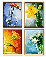 """Художественный творческий набор """"Цветы"""". Картины по номерам Schipper  9340529"""