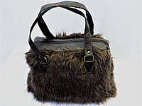 Стильная женская меховая сумка  Польша