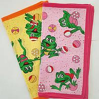 Носовые платки лягушки детские 10 шт в уп. 28х28