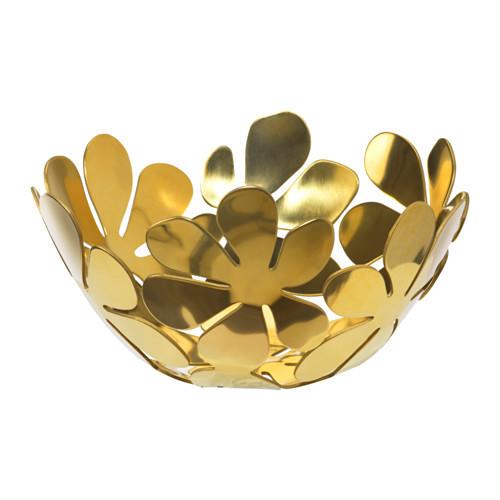 """IKEA """"СТОКГОЛЬМ"""" Миска, желтая медь золотой, 20 см"""